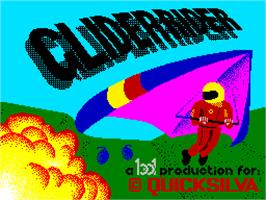 Title screen of Glider Rider on the Sinclair ZX Spectrum.