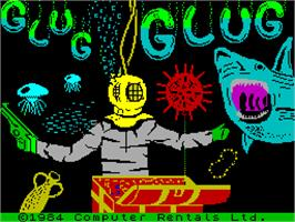 Title screen of Glug Glug on the Sinclair ZX Spectrum.