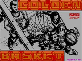 Title screen of Golden Basket on the Sinclair ZX Spectrum.