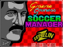 Title screen of Graeme Souness Soccer Manager on the Sinclair ZX Spectrum.