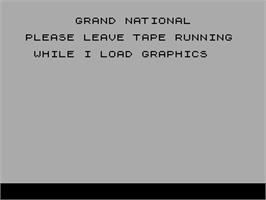 Title screen of Grand National on the Sinclair ZX Spectrum.