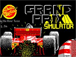 Title screen of Grand Prix Simulator on the Sinclair ZX Spectrum.