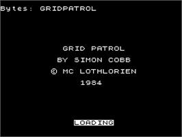 Title screen of Grid Run And Pontoon on the Sinclair ZX Spectrum.
