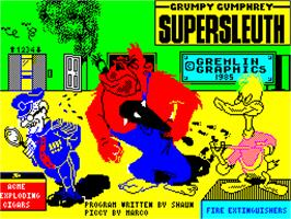 Title screen of Grumpy Gumphrey Supersleuth on the Sinclair ZX Spectrum.