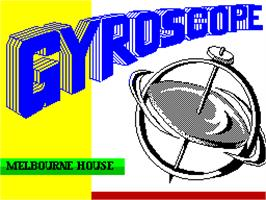 Title screen of Gyroscope on the Sinclair ZX Spectrum.