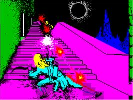 Title screen of Halls of the Things on the Sinclair ZX Spectrum.