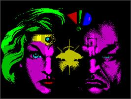 Title screen of Hammerfist on the Sinclair ZX Spectrum.