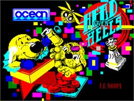 Title screen of Head Over Heels on the Sinclair ZX Spectrum.