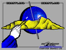 Title screen of Heartland on the Sinclair ZX Spectrum.