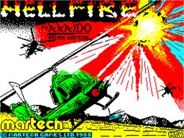 Title screen of Hellfire Attack on the Sinclair ZX Spectrum.