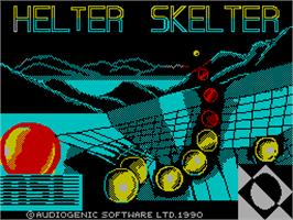 Title screen of Helter Skelter on the Sinclair ZX Spectrum.