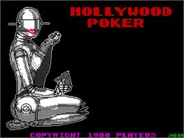 Title screen of Hollywood Poker on the Sinclair ZX Spectrum.