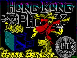 Title screen of Hong Kong Phooey: No.1 Super Guy on the Sinclair ZX Spectrum.