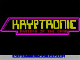 Title screen of Hopper on the Sinclair ZX Spectrum.