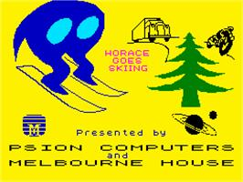 Title screen of Horace Goes Skiing on the Sinclair ZX Spectrum.