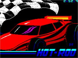 Title screen of Hot Rod on the Sinclair ZX Spectrum.