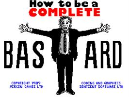 Title screen of How to be a Complete Bastard on the Sinclair ZX Spectrum.