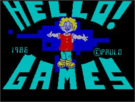 Title screen of Howard the Duck on the Sinclair ZX Spectrum.