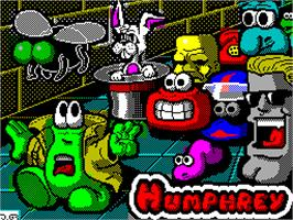 Title screen of Humphrey on the Sinclair ZX Spectrum.
