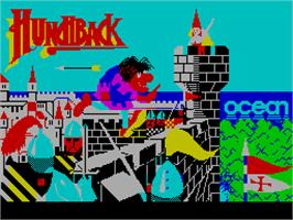 Title screen of Hunchback on the Sinclair ZX Spectrum.