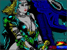 Title screen of Hundra on the Sinclair ZX Spectrum.