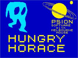 Title screen of Hungry Horace on the Sinclair ZX Spectrum.