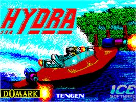 Title screen of Hydra on the Sinclair ZX Spectrum.