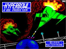 Title screen of Hyperbowl on the Sinclair ZX Spectrum.
