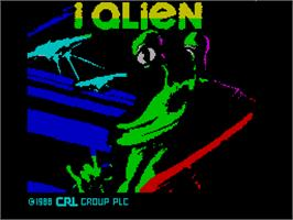 Title screen of I-Alien on the Sinclair ZX Spectrum.