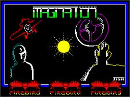 Title screen of Imagination on the Sinclair ZX Spectrum.