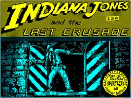 Title screen of Indiana Jones and the Last Crusade: The Action Game on the Sinclair ZX Spectrum.