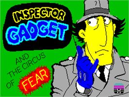 Title screen of Inspector Gadget and the Circus of Fear on the Sinclair ZX Spectrum.