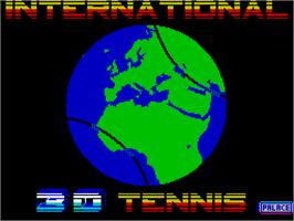 Title screen of International Tennis on the Sinclair ZX Spectrum.