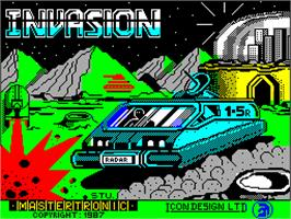 Title screen of Invasion on the Sinclair ZX Spectrum.
