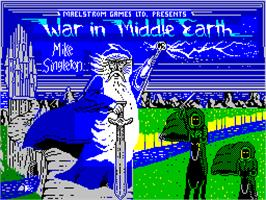 Title screen of J.R.R. Tolkien's War in Middle Earth on the Sinclair ZX Spectrum.