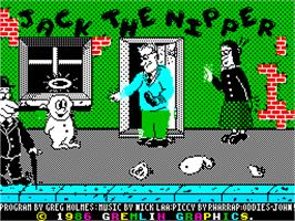 Title screen of Jack the Nipper on the Sinclair ZX Spectrum.