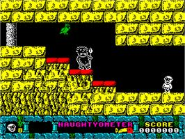 Title screen of Jack the Nipper 2: In Coconut Capers on the Sinclair ZX Spectrum.