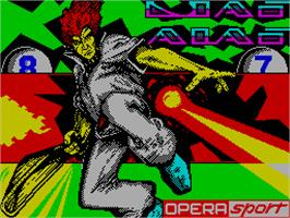 Title screen of Jai Alai on the Sinclair ZX Spectrum.
