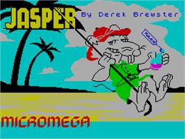Title screen of Jasper! on the Sinclair ZX Spectrum.