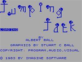 Title screen of Jumping Jack on the Sinclair ZX Spectrum.