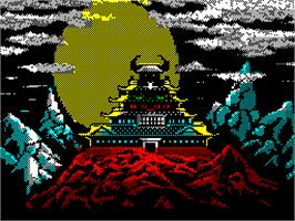 Title screen of Karateka on the Sinclair ZX Spectrum.