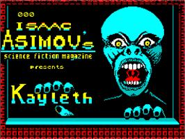 Title screen of Kayleth on the Sinclair ZX Spectrum.