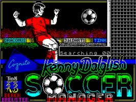 Title screen of Kenny Dalglish Soccer Manager on the Sinclair ZX Spectrum.