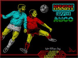 Title screen of Kick Off 2 on the Sinclair ZX Spectrum.