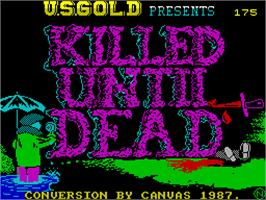 Title screen of Killed Until Dead on the Sinclair ZX Spectrum.