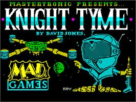 Title screen of Knight Tyme on the Sinclair ZX Spectrum.