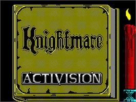Title screen of Knightmare on the Sinclair ZX Spectrum.