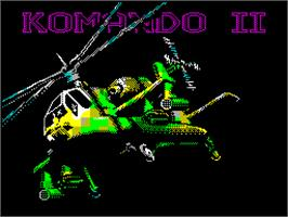 Title screen of Komando II on the Sinclair ZX Spectrum.