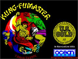 Title screen of Kung-Fu Master on the Sinclair ZX Spectrum.