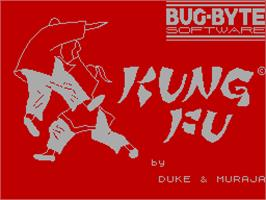 Title screen of Kung Fu on the Sinclair ZX Spectrum.